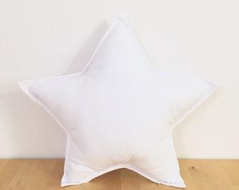White Star Pillow | Star Cushion | Decorative Star | Nursery Decor | Baby Pillow | Room Decor | Gray Star Pillow