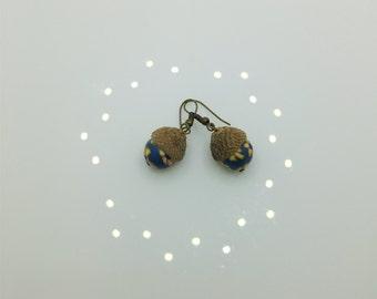 Floral Acorn Earrings