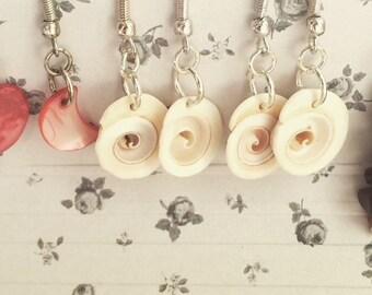 Delicate shell - drop Earrings - * i hear the sea *