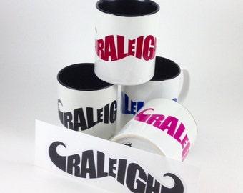 Raleigh North Carolina NC Mustache Mugs
