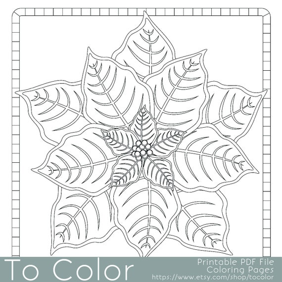 Items similar to Christmas Coloring Page for Adults ...