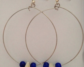 Hoops with blue and shell