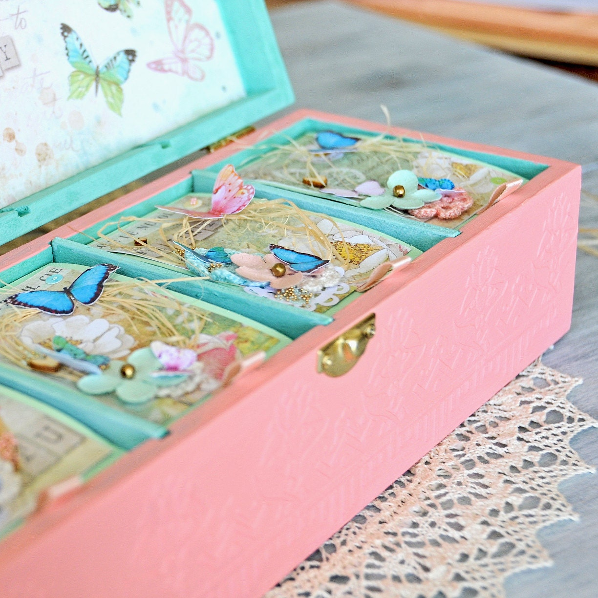 personalized baby girl keepsake box baby memory by. Black Bedroom Furniture Sets. Home Design Ideas