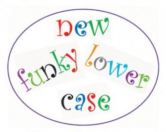 FMM Tappit Cutter: Funky Alphabet Set Lower Case 3cm