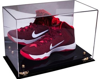 Basketball Shoe Display Case with Mirror