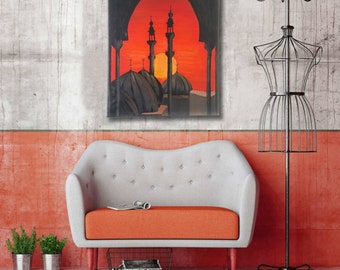 Moroccan Sunset Prayer Canvas