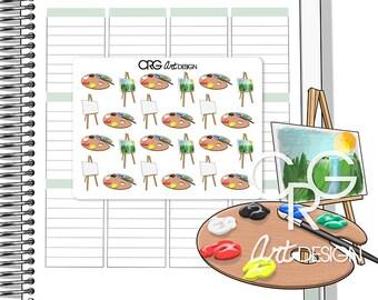Painting Pallet | Planner Erin Condren Plum Planner Filofax Sticker