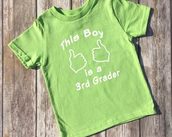 Third Grade Shirt 3rd Grade is Awesome Boys or Girls Back