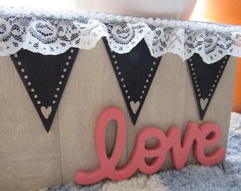 5x10 Mixed Media Love sign