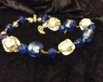 Vintage Art Deco glass Necklace
