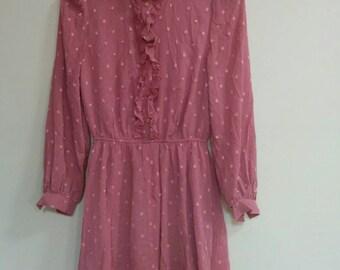 Vintage dusty pink frock