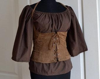 Brown, medieval peasant shirt