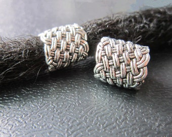 1PC Antique silver Dreadlock beads dread Jewelry Making Accessories 9mm hole