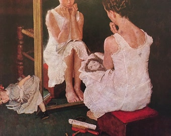 Girl in the Mirror, Norman Rockwell.