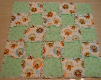 Peak-A-Boo Rag baby blanket