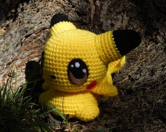 Pokemon Crochet Doll *Pikachu - - The Electric Mouse Pokemon* MADE TO ORDER