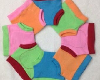 Fleece Soaker Cloth Diaper Cover - Rainbow - You Choose!