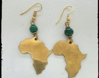 Hand-cut Brass earrings