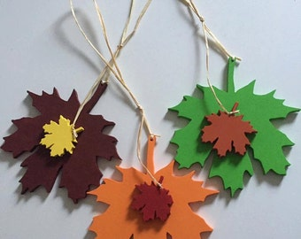 Pack of 6 leaves, pick your preferred colours