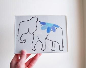 Elephant Original Watercolor