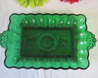 Vintage green serving dish / Vintage Green Platter