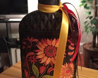 Small Brown Sunflower/Bear Bottle