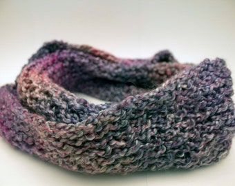 Purple Gray Infinity Scarf