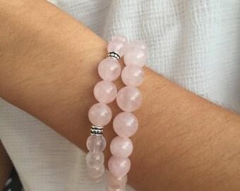 Natural Stone Rose Quartz Bracelet