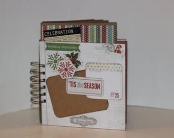Christmas Scrapbook Mini-Album, Chipboard & Envelope