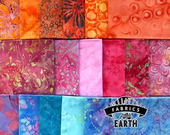 Fabulous Seahorse Batik 18 Fat Quarter Bundle - Quilting Fabric