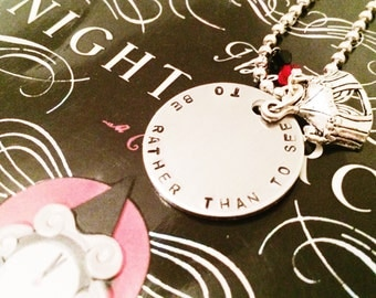 The Night Circus - inspired keychain/necklace