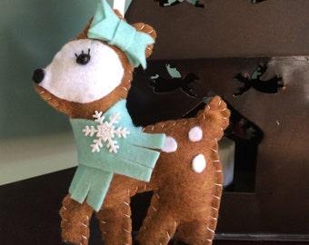 Darling Deer Felt Christmas Ornament