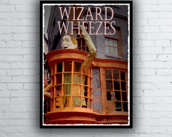 Harry Potter Movie / Poster / Print / Diagon Alley Weasleys Wizard Wheezes Poster