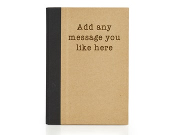 Personalised A5 Notebook with ruled lines, 80 pages