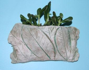 Planter, Plant Pocket, Leaf Planter, Wall Planter, Indoor or Outdoor Planter, small plant planter, Pot, plant pot, leaf pot, succulent pot,
