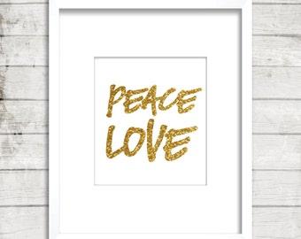 Peace Love, Love, Inspiring ideas, Inspirational quotes, Printable, Wall decor, Digital art