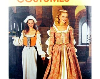 2000 McCall's Costumes 2793 Misses' Elizabethan Dresses/Costumes with Lace Up Bodice, OOP, Uncut, Sewing Pattern Size 12-14-16