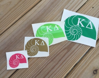 Kappa Delta Nautilus Shell Decal