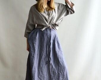 Linen Maxi Skirt, Maxi Skirt Boho, Skirt with Pockets, Womens Skirts, Linen skirt, Boho Skirt, Custom Skirt, Plus size skirt, Handmade