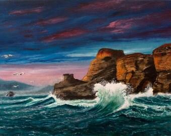 Wave at Cape Kiwanda. Oregon. Wave. Sea.
