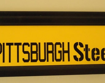 Pittsburgh Steeler sign with interchangeable inserts,  Pittsburgh Steeler sign, Steeler Sign, Man Cave decor, Pittsburgh Steeler gifts,