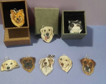 2 pack Custom pet charms