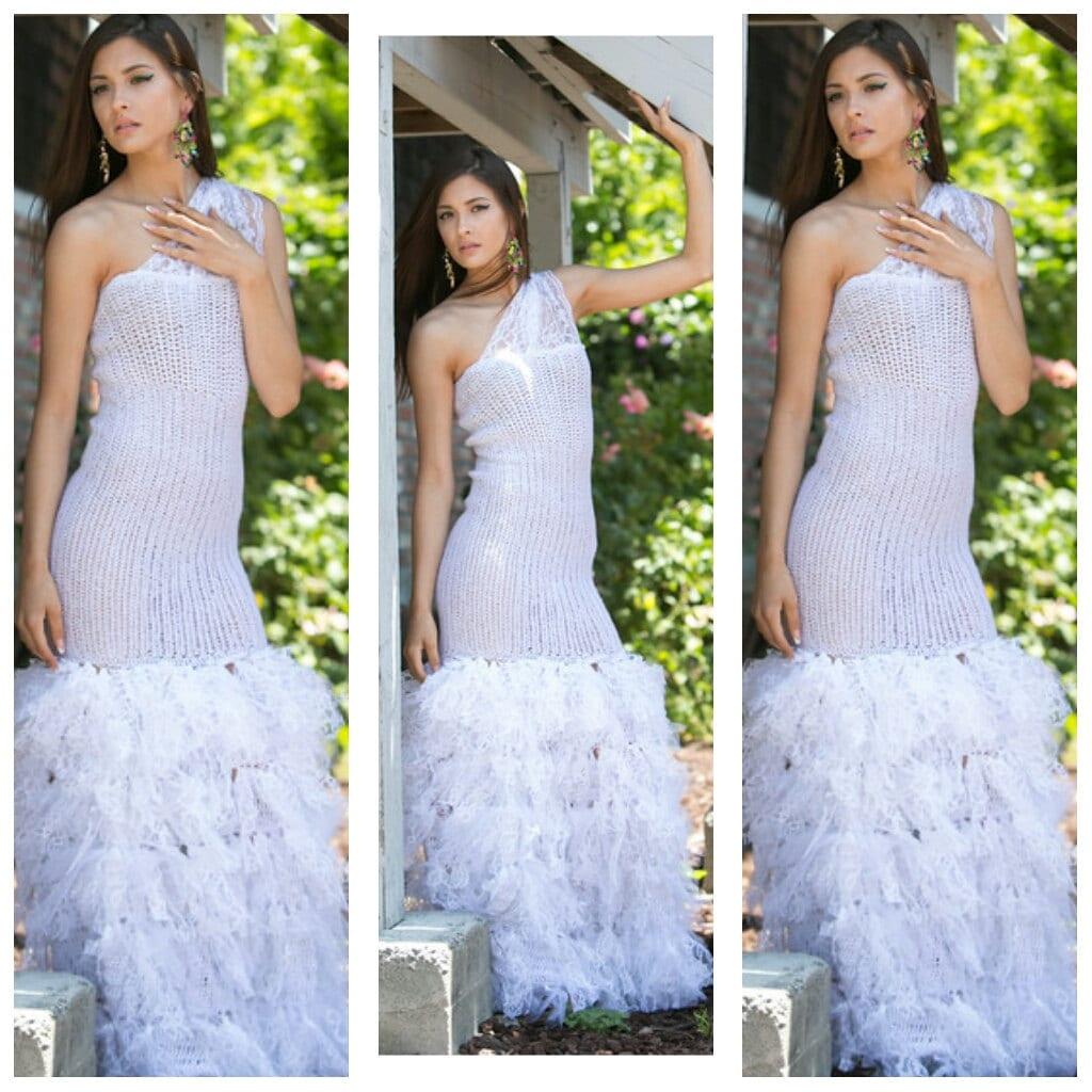 handmade vintage italian lace inspired wedding dress Crochet