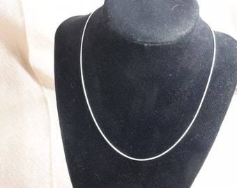 "18k white gold, 18k gold plated, 18k gold necklace, metal necklace chain, 18k gold chain, 16"", 2mm"