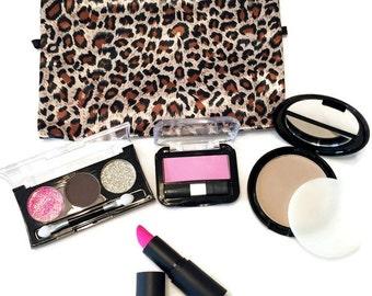 Pretend Makeup Set with Animal Print Bag