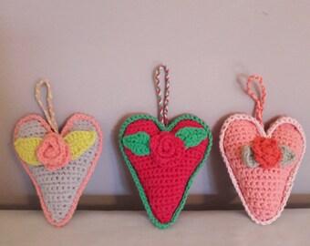 decorative hanging hearts