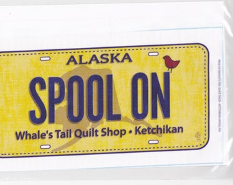 Row by Row fabric license plate from Alaska