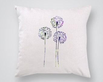 Dandelions Pillow Cover - Home Decor - Decorative Throw Pillow - Colorful Accent Pillow