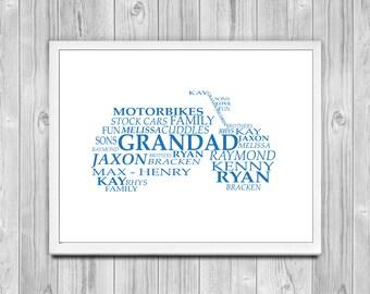 Motorbike Word Print