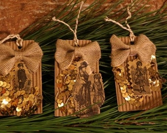 Victorian gift tags set of 4